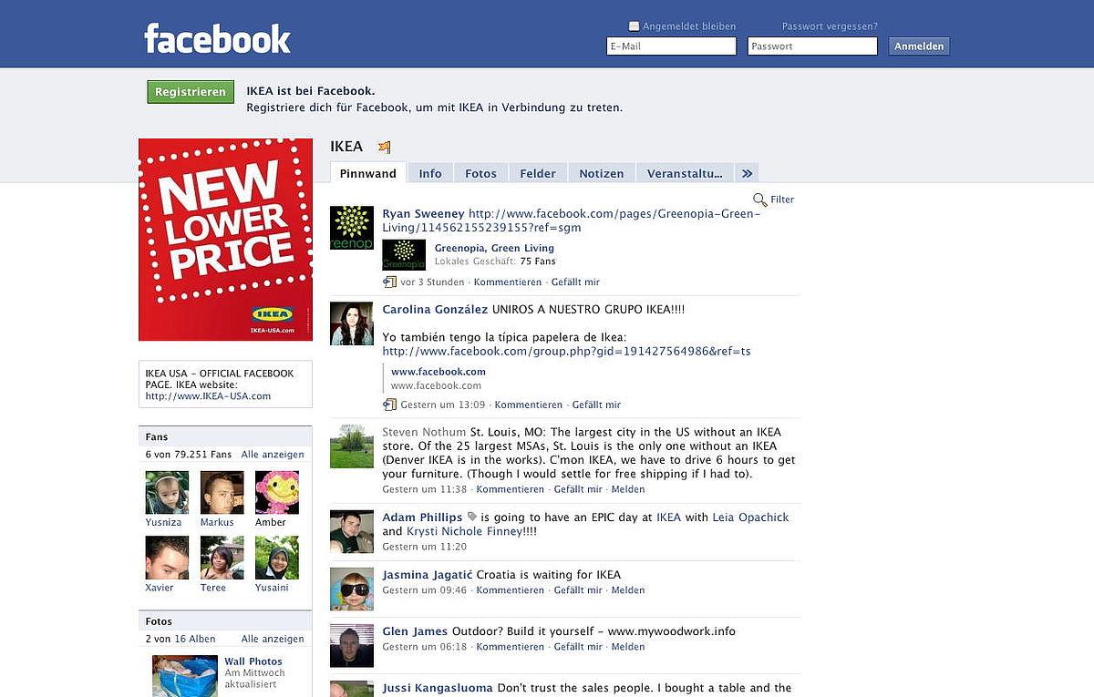 Facebook Seite Suchen