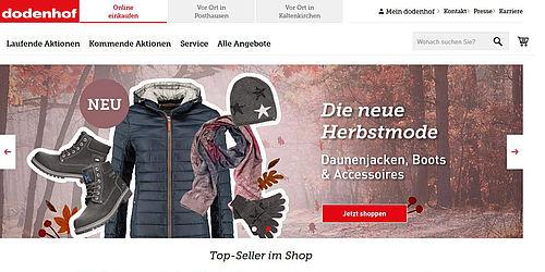 dodenhof kehrt mit einer online shopping welt zur ck. Black Bedroom Furniture Sets. Home Design Ideas