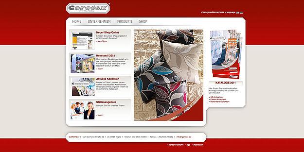 garotex neuer internet auftritt. Black Bedroom Furniture Sets. Home Design Ideas