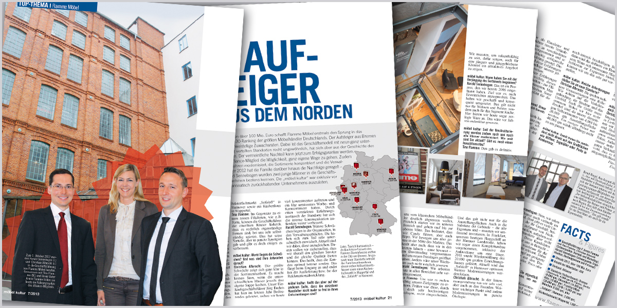 Flamme Möbel - Der Aufsteiger aus dem Norden - moebelkultur.de