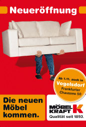 m bel kraft neuer ffnung in berlin vogelsdorf. Black Bedroom Furniture Sets. Home Design Ideas