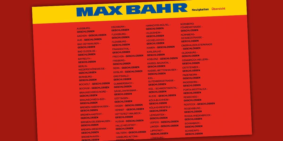 Max Bahr Märkte Sind Dicht Zum Teil übernehmen Xxxlutz Und Poco