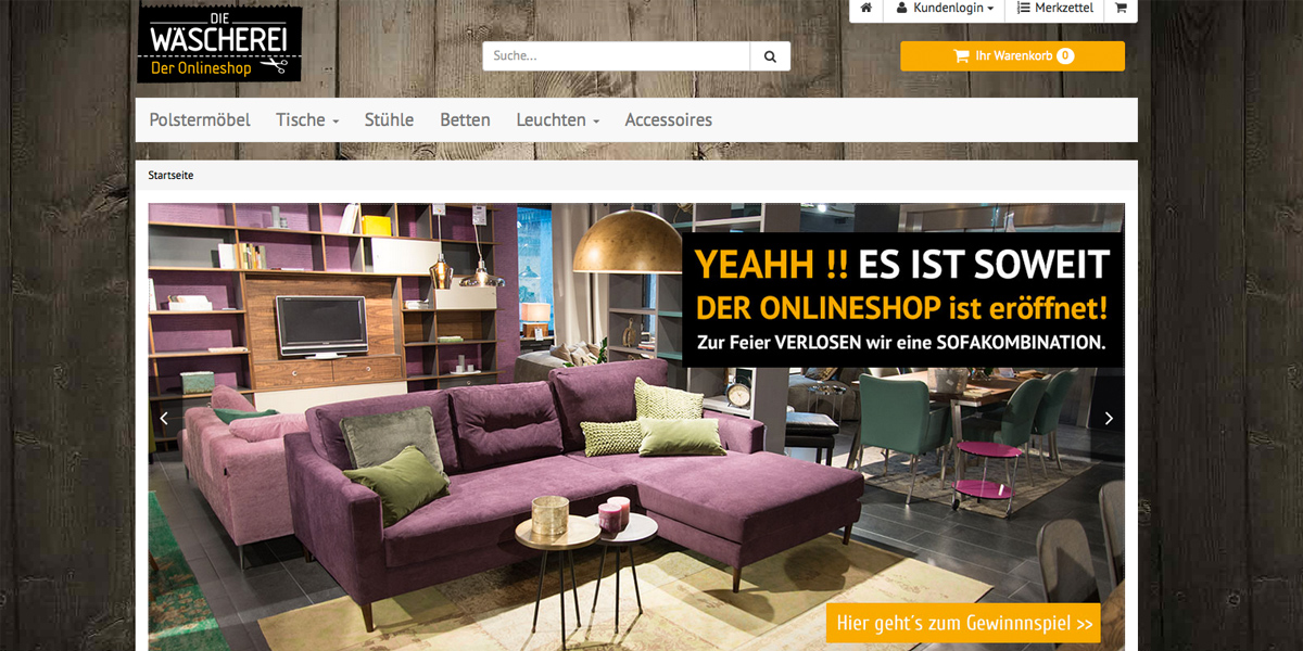 Die Wäscherei Jetzt Auch Mit Online Shop Moebelkulturde
