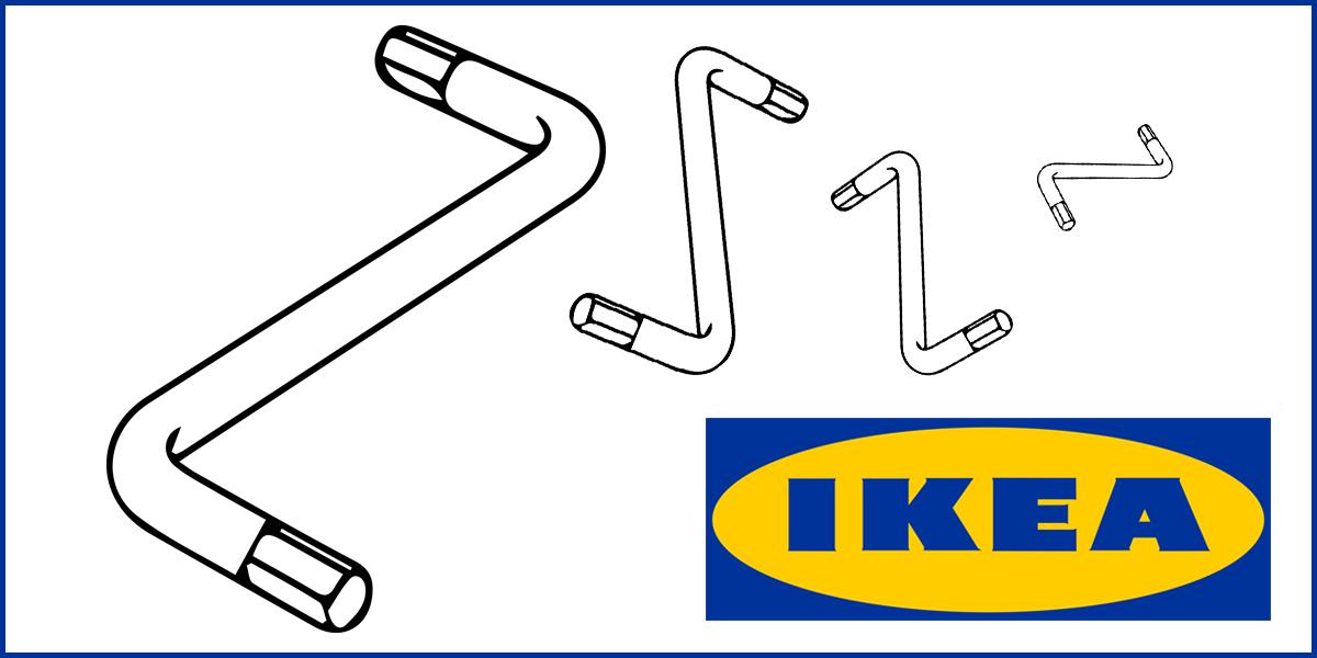 Inbusschlüssel Innensechskantschlüssel für IKEA Kvartal 2mm z.B