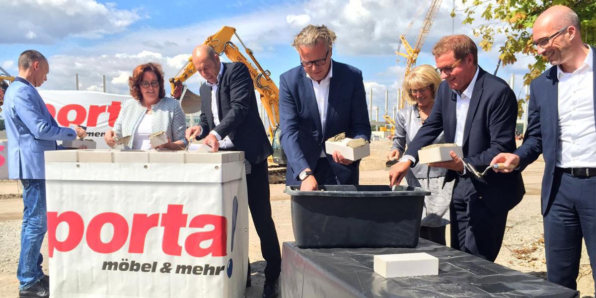 Porta Grundsteinlegung Für Logistikzentrum In Trebbin