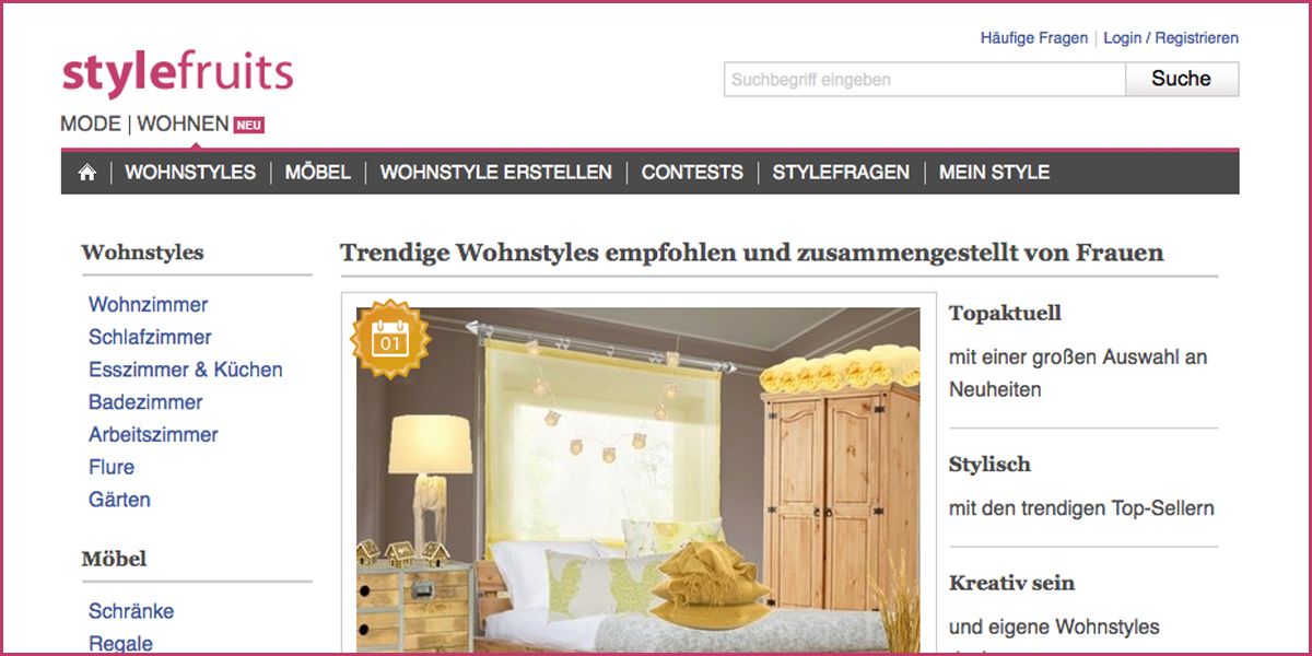 Stylefruits 40 000 Fans Sprechen Ubers Wohnen Partner Shops Konnen Sich Einbinden Lassen Moebelkultur De