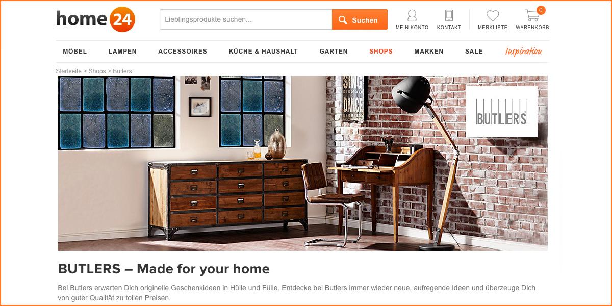 Butlers Markenshop Bei Home24 Derkuechenprofide