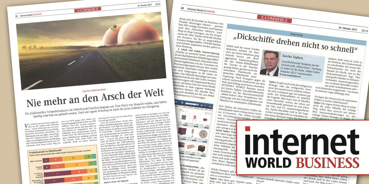 Möbel Im Internet Fachzeitschrift Internet World Business Fragt