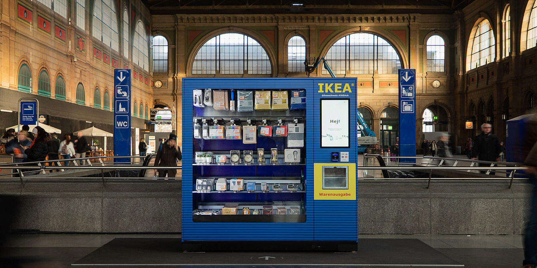 Ikea Neu Verkaufsautomat Im Züricher Bahnhof Moebelkulturde