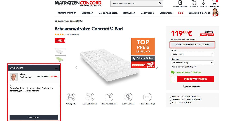 Matratzen Concord Verhandlungs Dialog Mit Echten Verkäufern Im